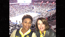 Nancy Pelosi & Barbara Lee Fangirl Out at Warriors Game Before Meet-And-Greet