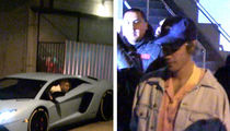 Justin Bieber's Lambo Bottoms Out at Bumpy Church Service