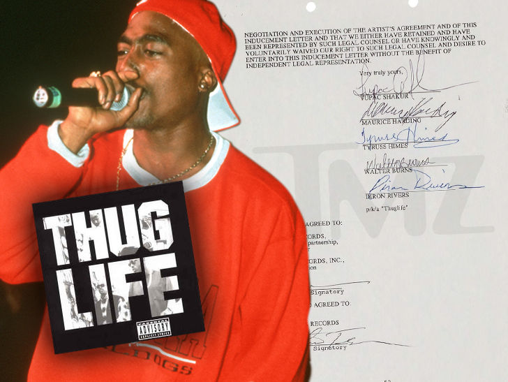 Tupac Signed 1994 Thug Life Contract Going Up for Grabs.