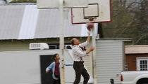 Woody Harrelson Relives 'White Men Can't Jump' On Set With His Kid