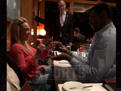 Aldon Smith Gets Engaged In Front of Joe Montana!