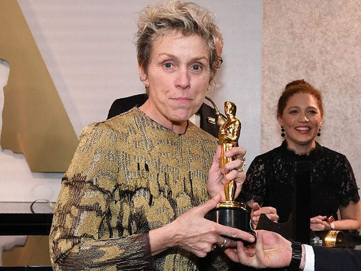 Frances McDormand's Oscar Thief Arrested for Felony Grand Theft