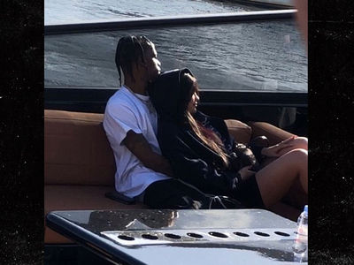 Kylie Jenner, Travis Scott Cuddle Up On Parents' Date without Stormi