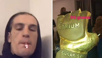 UFC's 'Sugar' Sean O'Malley Lights Up Golden Super-Blunt at UFC 222 After-Party