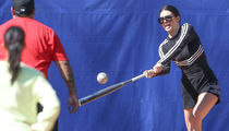 Kendall Jenner Plays Softball with Sisters, Takes Batting Practice and Grounders