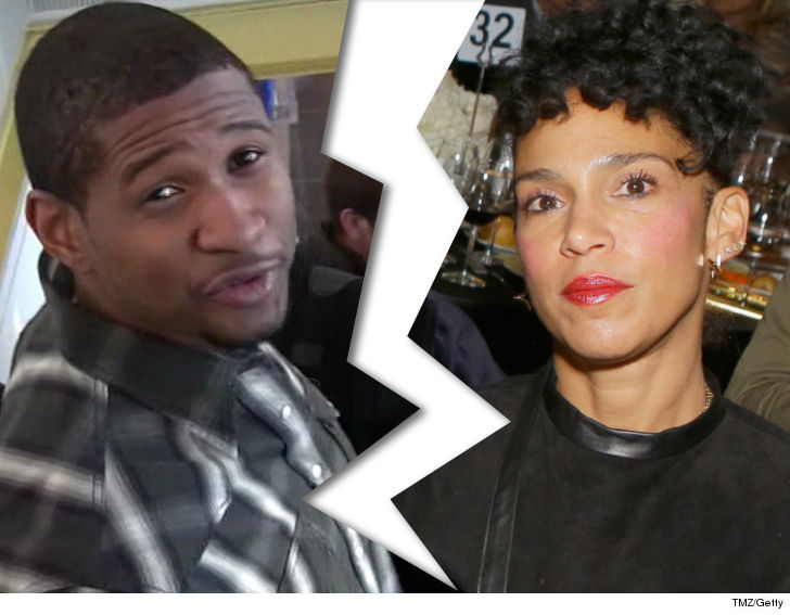 Usher confirms he has split from wife of two years