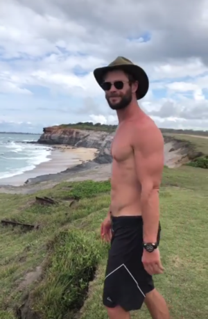 Chris Hemsworth's Family Camping Trip