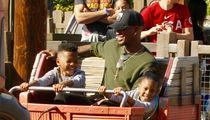 Ne-Yo Can't Stop Smiling on Family Trip to Disney's California Adventure