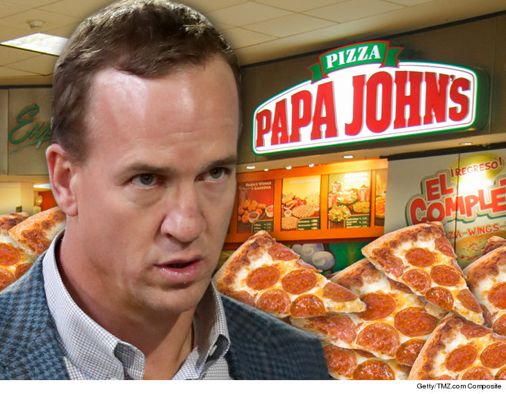 Peyton Manning's partnership with Papa John's has ended