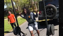 Alvin Kamara Trains Insane, Pulls Weights, Weight Rack, AND TRUCK