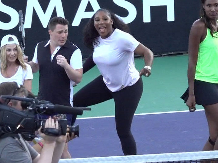 Serena Williams Busts Out Electric Slide In Celeb Dance Party!