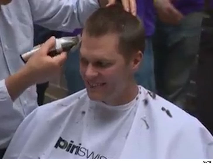 Gov. Baker, Tom Brady shave their heads for charity