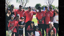 Kardashians Played The Jackson Family In Celeb Softball Game!