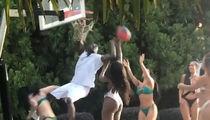 Akon Balls Up Smokin' Bikini Babes in 1-Man Slam Dunk Sesh