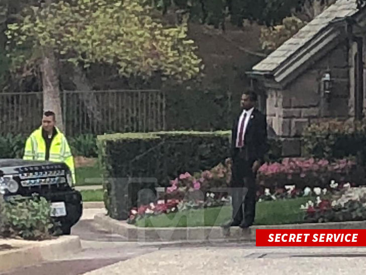 Secret Service Out in Force For Trump's Beverly Hills Fundraiser