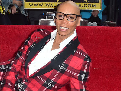 RuPaul Gets Star on Walk of Fame -- and Makes RARE Appearance with HOT Husband!