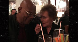 Samuel L. Jackson has Dinner with 'Boss' Judge Judy