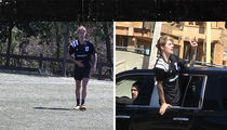 Justin Bieber Plays in Soccer Match in L.A.