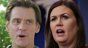 Jim Carrey Shares Portrait of 'Monstrous' Sarah Huckabee Sanders