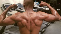 Guess The Flexin' Star Showing Off His Ripped Back Muscles!