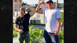 Mark Wahlberg and Gronk Put on Garden Gun Show at Miami Restaurant