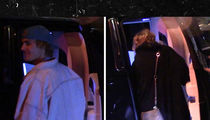 Justin Bieber Leaves the Strip with Mystery Blonde