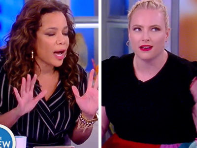 'The View' Goes Off the Rails as Sunny Hostin's Accused of Making a 'Threat' Against Trump