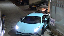 Justin Bieber Struggles Again Backing Out Lamborghini