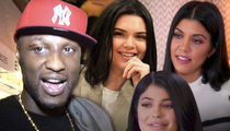 Lamar Odom Chatted Up Khloe's Sisters, Kendall, Kylie and Kourtney at Dinner