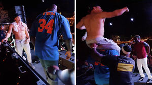 Shaq and Gronk Have Dance Off During Ultra Festival Weekend