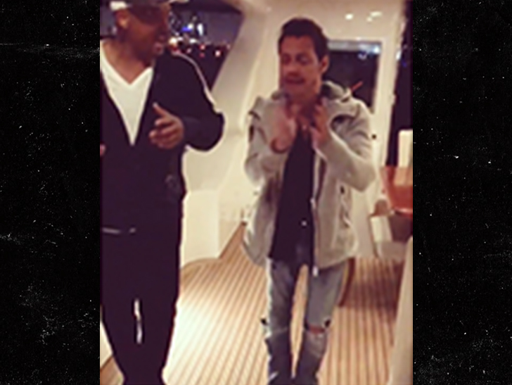 Will Smith Takes Salsa Lessons From Marc Anthony