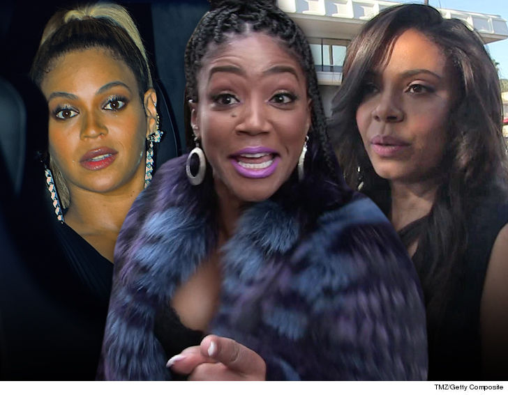 We know who the biter is in the Beyonce mystery... we're told it's none other than Sanaa Lathan
