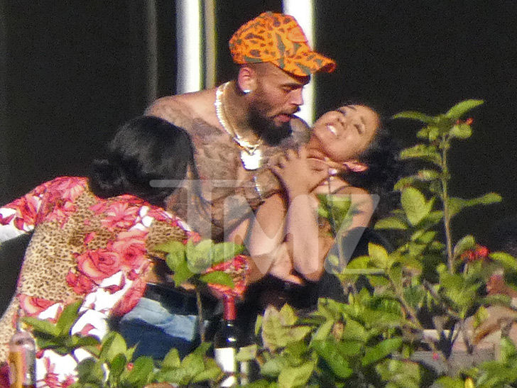 Chris Brown Puts Hands on Woman's Neck But They Say it's Just Horseplay