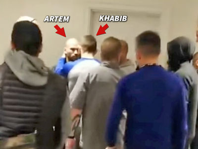 UFC's Khabib Nurmagomedov Confronts Conor McGregor's BFF in Heated Hotel Scrum
