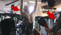 Steve Aoki's Nuts Get Slapped By UFC Legend Ken Shamrock