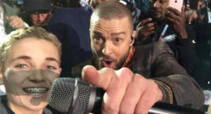 Justin Timberlake reunites with Super Bowl 'selfie kid' -- See their new pic