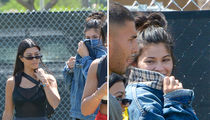 Kylie Jenner, Kourtney Kardashian, Travis Scott and Younes Bendjima at Coachella Day 1