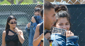 Kylie Jenner, Kourtney Kardashian, Travis Scott and Younes Bendjima at Coachella Day 1