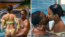 Karrueche Tran and Victor Cruz  Make Out Poolside in Miami