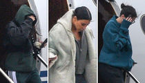 Kardashian Sisters Kim, Kendall and Kourtney Fly Into Cleveland for Khloe & True