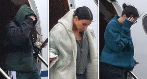 Kardashian Sisters Kim, Kendall and Kourtney Fly Into Cleveland for Khloe & True