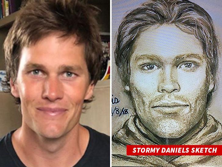 Stormy Daniels Sketch Man Is Tom Brady?