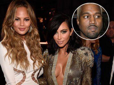 Chrissy Teigen Offers Kim Kardashian a Place to Sleep After Kanye West Posts CRYPTIC Tweet