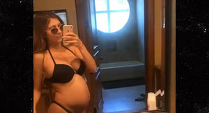 Lonzo Ball's Girlfriend Flaunts Huge Baby Bump in Black String Bikini