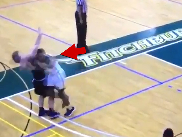 College Basketball Player Viciously Elbows Opponent in Face During